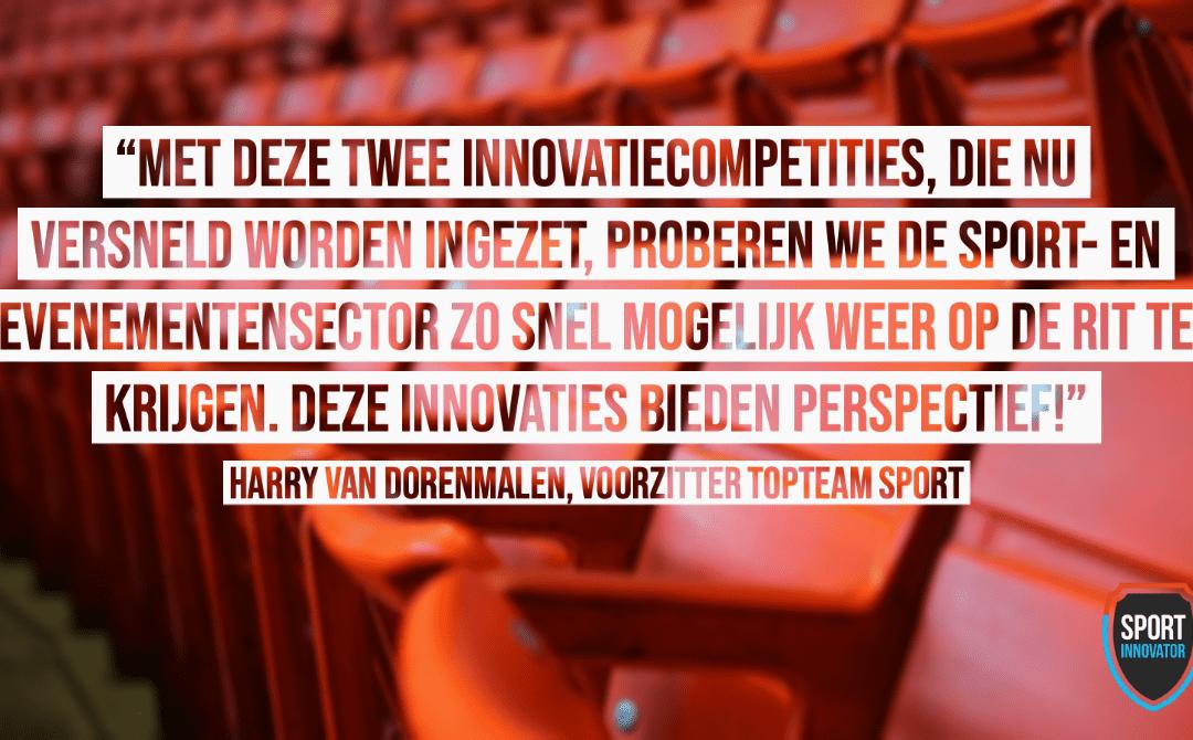 Winnaars Fase 1 innovatiecompetitie sport & covid-19 bekend