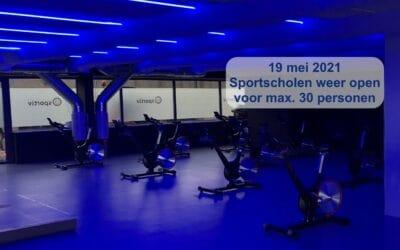 Sportscholen weer open